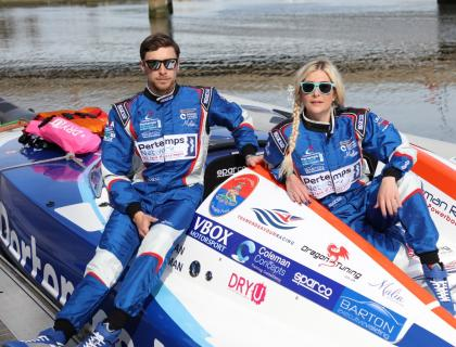 The Royal Artillery Association support ex Gunner with her Powerboat success......