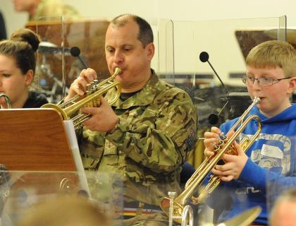 Royal Artillery Band recruits the next generation...
