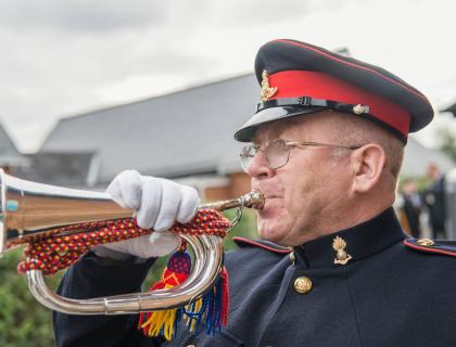 Mr Bobby Crick - Bugler for the serving and ex-serving....