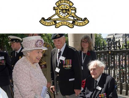 Royal Artillery Veteran Meets The Queen at VJ Day