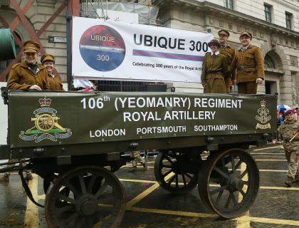 106 Regt RA wheel out the big guns for 800th Lord Mayor's Show