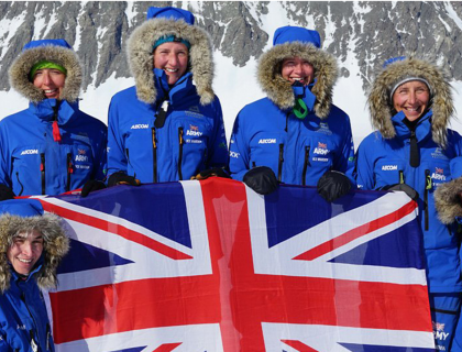 British all-female team use muscle power alone to ski coast-to-coast across Antarctica