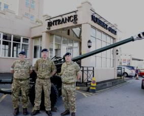 103 Regt RA with the Gate Guardians