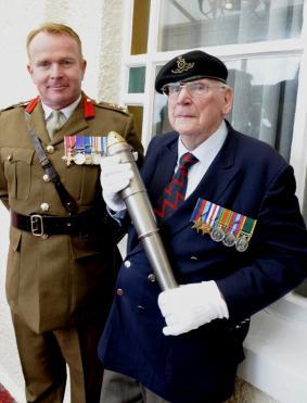 Mr Frank Yates with Brig Simon Humphrey