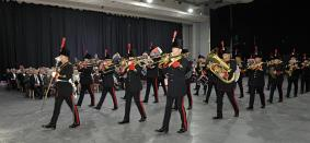 The Lancashire Artillery Band from 103 Regt RA