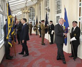 The Master Gunner St James's Park, Regt Controller & Regt Col Carrying out an inspection
