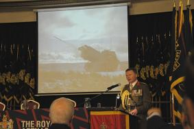 Regt Col addresses the AGM