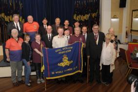 Regt Col with 50 Missile Regt RA members