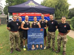 14 Regt RA fundraising for the RACF