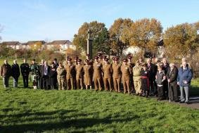 Edinburgh Branch RAA Service of Remembrance at the Slateford And Longstone War Memorial Edinburgh - Saturday 11 November 2018. From the serving Regiment on parade were members of 176 (Abu Klea) Battery RA -19 Regt RA. Piper Cpl Moffat -105 Regt RA. Bugle