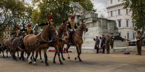 Kings Troop RHA taking the salute