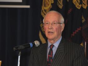 Brig Radcliffe addressing the AGM