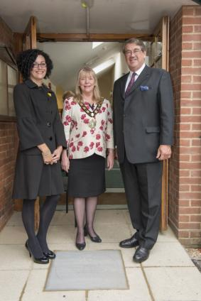 Col Vere Nicoll, Ms Sarah Davies and Mayor of Test Valley Councillor Jan Lovell
