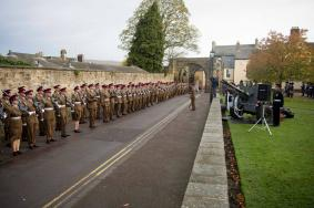 39 Regt on Parade