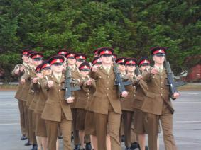 Marching Troops looking well drilled