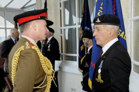 Regt Col Inspects the Standards
