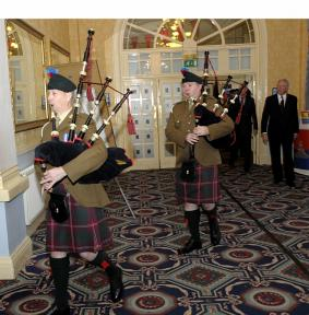 Pipers March in the Chairman & NEC
