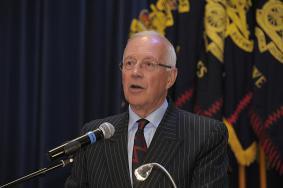Brig Radcliffe addresses the AGM