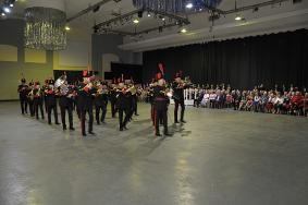 103 Regt RA Band at the Sunset Ceremony