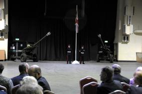 47 Regt RA on parade