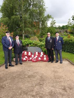 Paying their respects in the NMA Garden