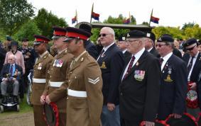Regiments showing respect