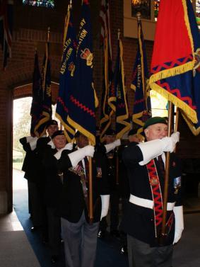 Standard Bearers on parade