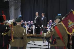 The Master Gunner and Mayor of Blackpool taking the salute