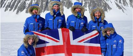 British all-female team use muscle power alone to ski coast-to-coast across Antarctica