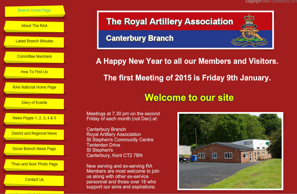 RAA Canterbury Branch - New Website