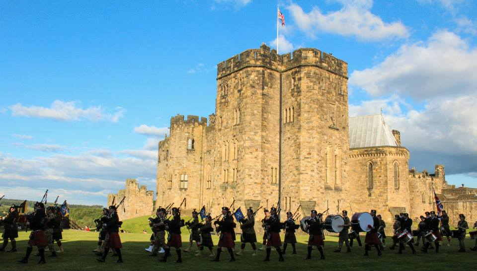 Beating of Retreat at Alnwick Castle